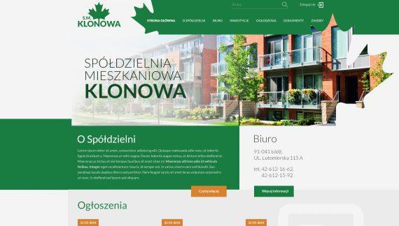 Spółdzielnia Mieszkaniowa Klonowa z nowym logo i stroną www
